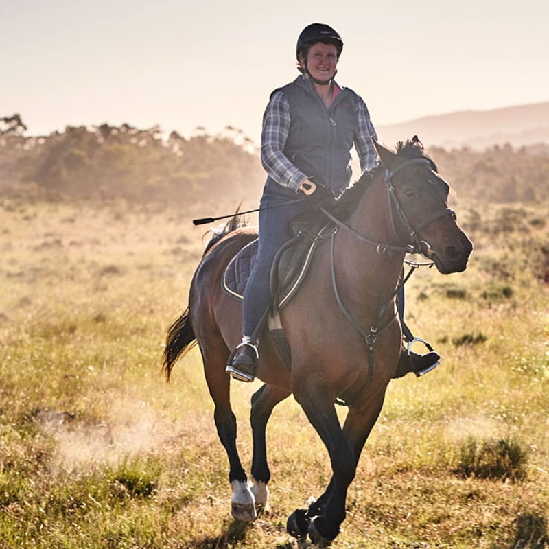 Heidi Maritz on a horse