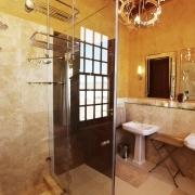 Badezimer mit Dusche und 2 Waschbecken