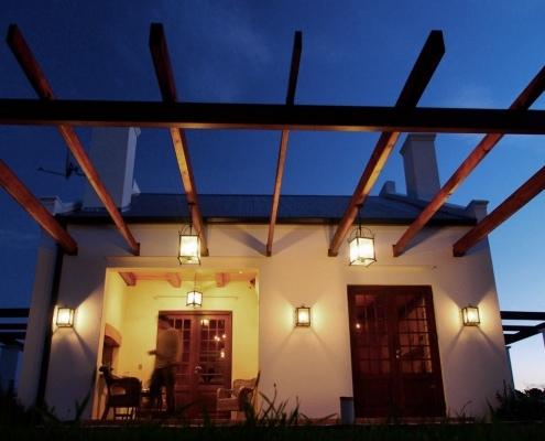 Terrasse in gemütlicher Abendstimmung